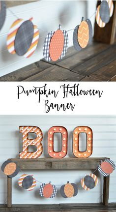 Learn how easy it is to make this Pumpkin Halloween Banner using your Cricut. It's a quick little project to make, but will look cute hanging up for Halloween! Halloween Pumpkins, Halloween Crafts, Halloween Decorations, Diy Halloween Banner, Fall Crafts, Preschool Halloween, Fall Decorations, Halloween Ideas, Halloween Costumes