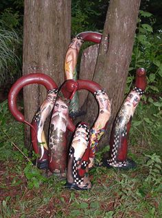 Love these painted gourds!