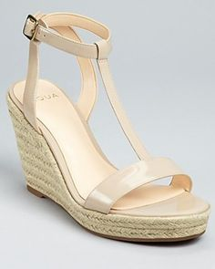 I love these nude wedges!