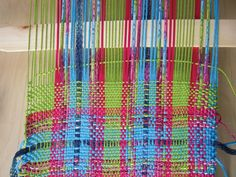 Tutorial for building a simple loom and weaving your own fabric.