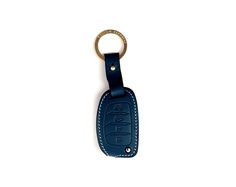 Hyundai 4button folding Handmade Buttero Leather Smart Key Cover/Case   -Handmade by: Custom Republic  -Leather: Vegetable leather from Conceria Walpier & Vera Pelle -Attachment pieces: 18K gold satin coating - Colors: natural, yellow, orange, brown, navy, and camouflage -Thread & Stitching: Serafil (from Germany)  -Measurement: 4.5cm x 14.2cm