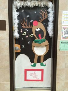 Christmas door for music teacher.