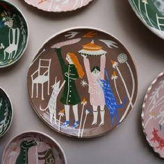Illustrated ceramics by Polly Fern