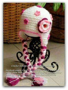 37 mejores imágenes de gorros a crochet  5524d2d3925