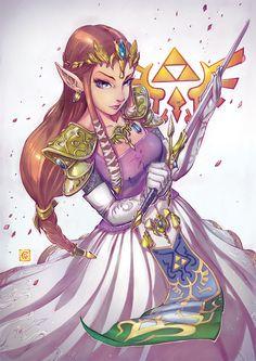 The Legend of Zelda: Twilight Princess, Princess Zelda / Twilight Princess by Smolb on deviantART