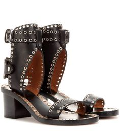 ISABEL MARANT - Jaeryn embellished leather sandals - Luxury Fashion for Women / Designer clothing, shoes, bags
