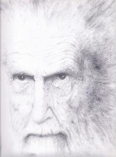Ezra Pound, pencil drawing, Marcel Flendrie