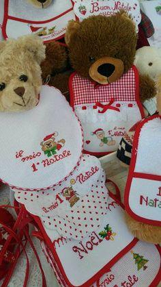 Il filo del cuore ....Ricami: Aspettando il Natale.... Christmas Time, Teddy Bear, Toys, Shades, Animals, Cross Stitch Embroidery, Punto De Cruz, Xmas, Activity Toys