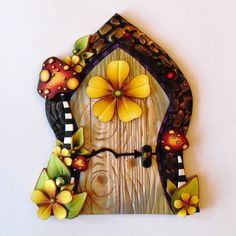 Toadstool Fairy Door by Claybykim on Etsy