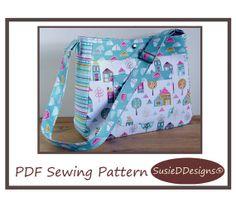 Diaper Bag Pattern PN803 Petite Street Nappy Bag Sewing Pattern by SusieDDesigns