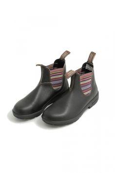Blundstone stout elastic side boots stivaletti marroni con elastico multicolor Blundstone shop online