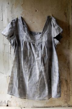 upcycled cotton top pale shibori grey bohemian by enhabiten