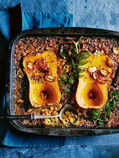 slow-cooked butternut pumpkin and chickpea dhal