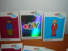 eBayana: 1st eBay Live! collectible trading cards of Meg Whitman(CEO) and Pierre Omidyar(Founder)