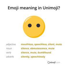 Did something get you speechless? 😶  More on Instagram...  #Unimoji #emojilanguage #new #universal #emoji #language #emojimeanings #icon #symbol #picture #graphics #emojimeaning #emojione #speechless #dumbfounded #dumbfound #mute #muteness #silence #silent #mouthless #obmutescence #speechimpairment #speechdisorder #speechimpediment #wordless #unvoiced #unspoken #dumb #dumbness Emoji Language, Adverbs, Dumb And Dumber, Something To Do, You Got This, Meant To Be, Graphics, Instagram, Graphic Design