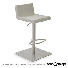 Swivels and adjusts easily from a counter height to a bar height, Soho Concept Dallas Piston Stool. #SohoConcept #BarStool #CounterStool Available at allmodernoutlet.com  http://www.allmodernoutlet.com/soho-concept-dallas-piston-stool/