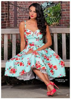 Stop Staring Marisol Rose Mint Swing Dress – Temptress Fashion Pretty Dresses, Sexy Dresses, Beautiful Dresses, Casual Dresses, Girls Dresses, Awesome Dresses, Summer Swing Dresses, Summer Dresses For Women, Spring Dresses