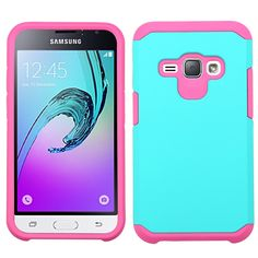 MYBAT Neo Astronoot Samsung Galaxy J1 / Amp 2 Case - Teal Green/Pink