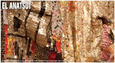 EL ANATSUI  is one of the most exciting contemporary visual artists of our time. Emerging from the vibrant post-independence art movements of 1960s and '70s West Africa, he has gone on to receive widespread international acclaim for his sculptural experiments with media, form and tradition. October Gallery has been working closely together with El Anatsui since 1993.