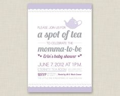 Tea Party Invitation / Baby Shower Invitation / Bridal Shower Invitation on Etsy, $16.72 AUD