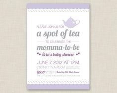 Tea Party Invitation / Baby Shower Invitation / Bridal Shower Invitation on Etsy, $16.72 AUD