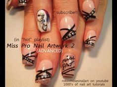 "ADVANCED portrait of lady Miss professional nail ""artwork 2"" robin moses art tutorial 631"