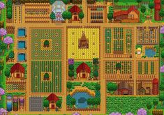 Stardew Valley is an open-ended country-life RPG with support for players. Stardew Farms, Stardew Valley Farms, Stardew Valley Layout, Stardew Valley Tips, Farm Layout, Farm Games, Animal Crossing Game, Pixel, Country Life