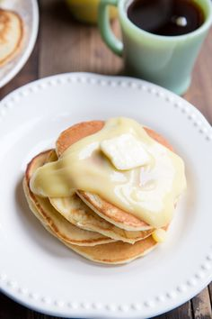 Lemon Ricotta Pancakes Recipe • Perfect for Mother's Day, Easter morning or any excuse for a special breakfast! #pancakes