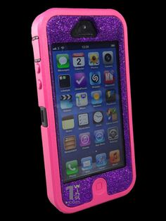 Custom Glitter Otterbox Defender Series Case for iPhone 5 by 1WinR, $44.99