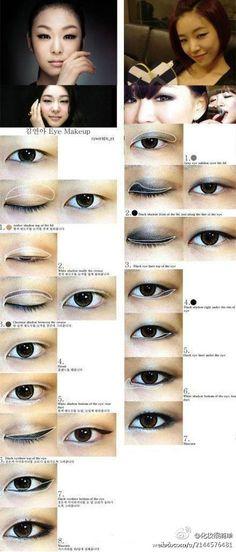Monolid eye makeup