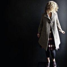 Brown/Beige Houndstooth Wool Tweed Jacket   13threads