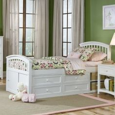 Schoolhouse Captain Bed - White - Kids Beds at Kids Furniture Mart
