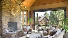Mascord Plan 2467 - The Hendrick - Beautiful Mountain Ranch with Great Outdoor Connection