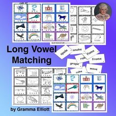 Long Vowel Printable Activities CVCe and Vowel Teams Lotto Picture Word Match Vowel Activities, Classroom Activities, Student Learning, Kids Learning, Teaching Resources, Teaching Phonics, First Grade Lessons, Reading Specialist, Struggling Readers