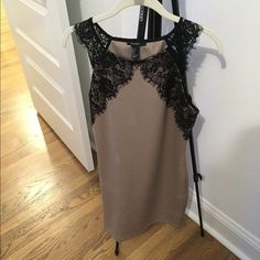 Tan and black lace dress never worn Forever 21 Dresses