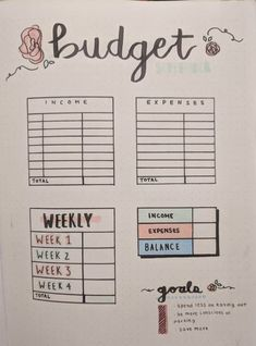 Post with 0 votes and 4568 views. A simple budget tracker for keeping track of my spending/income! Self Care Bullet Journal, Bullet Journal Notebook, Bullet Journal Aesthetic, Bullet Journal Layout, Bullet Journal Ideas Pages, Bullet Journal Inspiration, Bullet Journal Spending Tracker, Bujo, Budget Notebook
