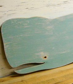 Big Blue Whale Weathered Wood Wooden Sign Wall by CastawaysHall, $79.00