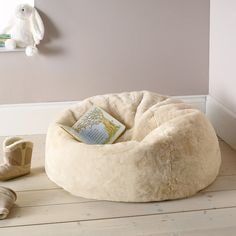 Buy Childrens Bedroom > Childrens Bedroom Accessories > Faux Fur Beanbag from The White Company