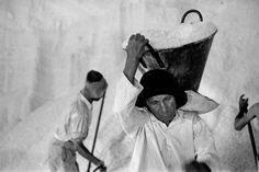 1956. Sicily. Province of Trapani. Salt mine. Rene Burri