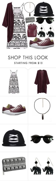 """Burgundy Elephant"" by meaganmuffins ❤ liked on Polyvore featuring H&M, Converse, Chicnova Fashion, maurices and Tarina Tarantino"