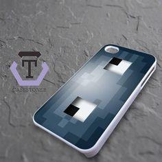 Minecraft Grey Squid Head iPhone 4|iPhone 4S Black Case