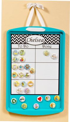 Chore Chart Magnetic Combination by SallySuesShop on Etsy, $38.00