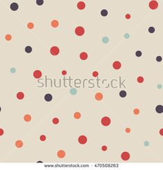 Seamless dots pattern. Vector repeating texture.