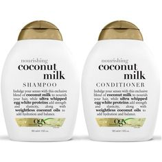 OGX Nourishing Coconut Milk Shampoo Conditioner (13 Ounce) ($30) via Polyvore featuring beauty products, haircare, hair conditioner, beauty, organix hair care and organix
