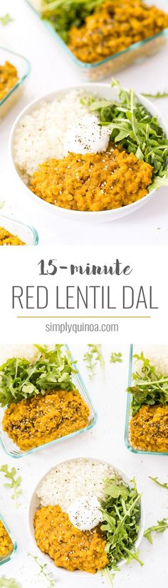 Using just one pot and ready in just 15 minutes, this easy VEGAN RED LENTIL DAL is a flavorful, plant-powered meal. Serve with quinoa, rice or flatbreads!