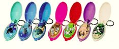 Moving animal keychains - I had a ton of these from Claire's