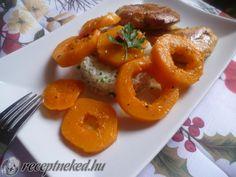 Csirkemell rozmaringos sütőtökkel Shrimp, Chicken Recipes, Meat, Food, Essen, Meals, Yemek, Eten