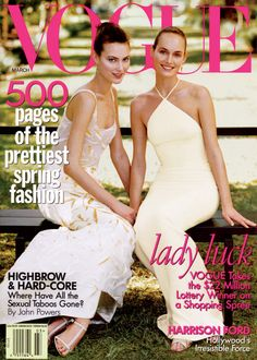 Amber Valletta - Photos - Vogue: Shalom Harlow and I were inseparable. We enjoyed working together for so many reasons. I love this cover