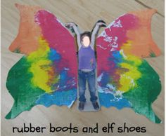 craft, kid pictures, children pictures, paint, elf shoe, papillon, butterfli freebi, art shows, insect art projects for kids