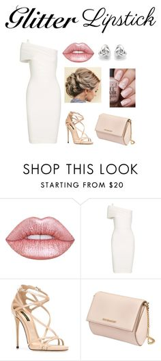 """Glitter Lips"" by quirkyqwerty on Polyvore featuring beauty, Lime Crime, Michelle Mason, Dolce&Gabbana, Givenchy and Georgini"